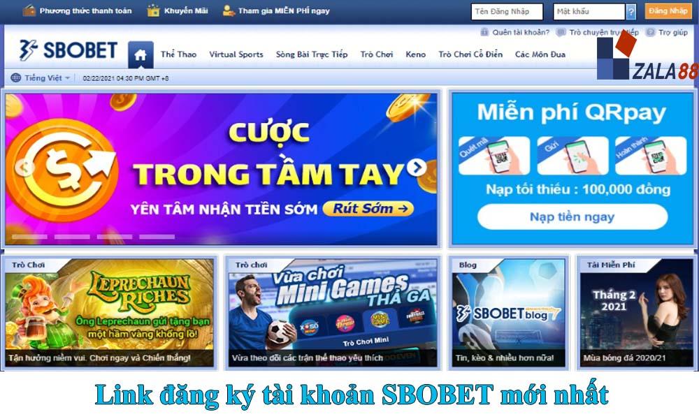 Link đăng ký SBOBET mới nhất